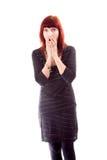 Mature woman looking shocked Stock Photos