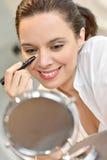 Mature woman and makeup Royalty Free Stock Image