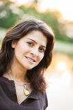 Mature woman outdoor portrait royalty free stock image
