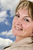 Mature woman over shoulder Stock Photos