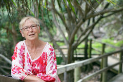 Mature woman in park Royalty Free Stock Photography