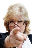 Mature woman pointing Royalty Free Stock Images