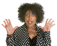 Mature Woman in Polka Dot Stock Photography