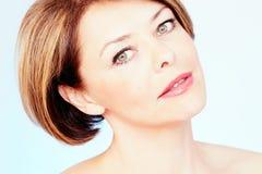 Mature woman portrait Stock Photos