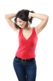 Mature woman posing stock photography