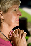 mature woman praying Royalty Free Stock Photos