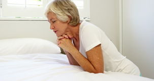 Mature woman praying