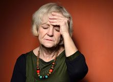 Mature woman with problems. Royalty Free Stock Images