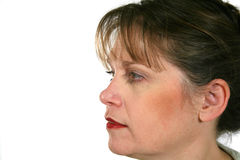Mature Woman Profile Royalty Free Stock Photo