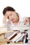 Mature woman reading Stock Image