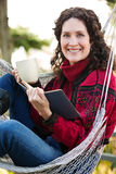 Mature Woman Reading A Book Royalty Free Stock Image