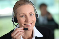 Mature woman receptionist Stock Photography