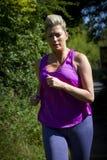 Mature Woman Running Stock Photos