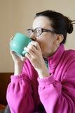 Mature Woman's Breakfast Royalty Free Stock Photo