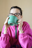 Mature Woman's Breakfast Stock Photography