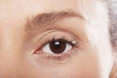 Mature Woman's Eye Royalty Free Stock Photos
