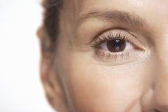 Mature Woman's Eye Stock Photos