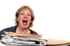 Mature woman screaming Stock Photography