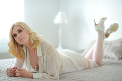 Woman and lingerie Stock Image