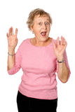 Mature woman shocked Royalty Free Stock Photos