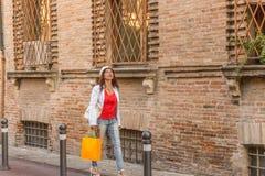 Mature woman shopping Stock Image
