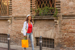 Mature woman shopping Royalty Free Stock Images