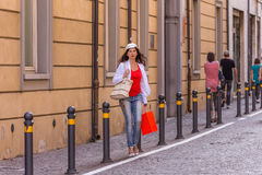 Mature woman shopping Royalty Free Stock Image