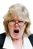 Mature woman shouting Stock Photography