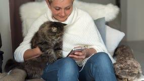 Mature people using technology - Lifestyle royalty free stock image