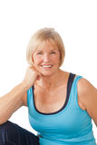 Mature woman smiling Royalty Free Stock Photography