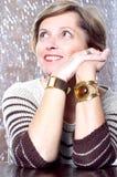 Mature woman smiling Royalty Free Stock Image