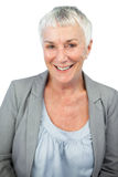 Mature woman smiling at camera Stock Image