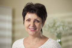 Mature woman smiling Royalty Free Stock Photo