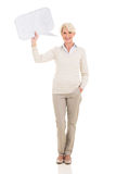 Mature woman speech bubble Stock Images