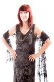 Mature woman standing with her arms akimbo Royalty Free Stock Photo
