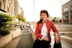 Mature woman street portrait Stock Images