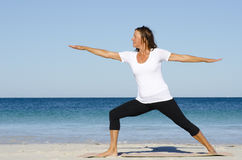 Mature woman Stretching Exercise stock photos