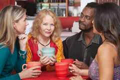 Mature Woman with Sympathetic Friends Royalty Free Stock Photos