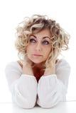 Mature woman thinking Stock Image