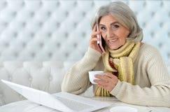 Mature woman using laptop Royalty Free Stock Image