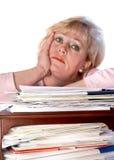 Mature woman very glum. Mature woman's glum, but resigned, expression Royalty Free Stock Photo