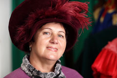 Mature woman in victorian dress Royalty Free Stock Image