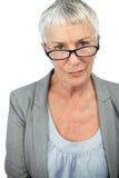 Mature woman wearing glasses Royalty Free Stock Photo