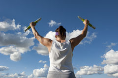 Mature Woman Weight Exercise Royalty Free Stock Photos
