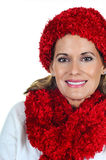Mature Woman in Winter Fashion Royalty Free Stock Images