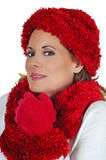 Mature Woman in Winter Fashion Stock Photo