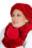 Mature Woman in Winter Fashion Royalty Free Stock Photo