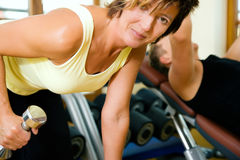 Mature woman working out Royalty Free Stock Photo
