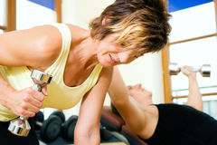 Mature woman working out Stock Image
