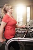 Mature woman working out at the gym Royalty Free Stock Image